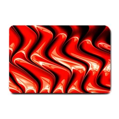 Red Fractal  Mathematics Abstact Small Doormat  by AnjaniArt