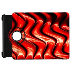 Red Fractal  Mathematics Abstact Kindle Fire Hd Flip 360 Case by AnjaniArt