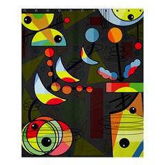 Happy Day 2 Shower Curtain 60  X 72  (medium)  by Valentinaart
