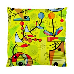 Happy Day   Yellow Standard Cushion Case (two Sides) by Valentinaart