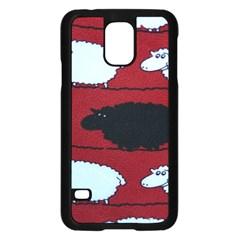 Sheep Pattern Samsung Galaxy S5 Case (black) by AnjaniArt