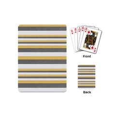 Textile Design Knit Tan White Playing Cards (mini)  by AnjaniArt