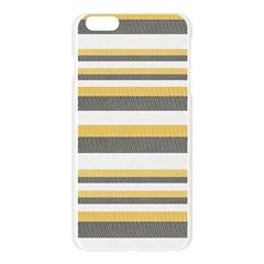 Textile Design Knit Tan White Apple Seamless iPhone 6 Plus/6S Plus Case (Transparent) by AnjaniArt