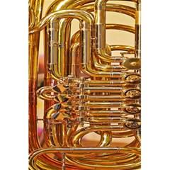 Tuba Valves Pipe Shiny Instrument Music 5 5  X 8 5  Notebooks by AnjaniArt