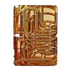 Tuba Valves Pipe Shiny Instrument Music Samsung Galaxy Note 10 1 (p600) Hardshell Case by AnjaniArt
