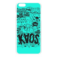 Typography Illustration Chaos Apple Seamless iPhone 6 Plus/6S Plus Case (Transparent) by AnjaniArt