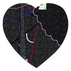 Plug In Jigsaw Puzzle (heart) by Valentinaart