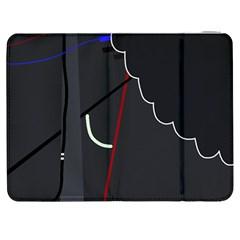 Plug In Samsung Galaxy Tab 7  P1000 Flip Case by Valentinaart