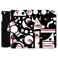 Happy Life   Red Apple Ipad Mini Flip 360 Case by Valentinaart