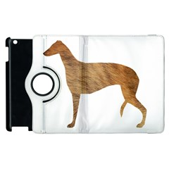 Greyhound silhouette brindle fur Apple iPad 3/4 Flip 360 Case by TailWags