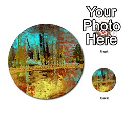 Autumn Landscape Impressionistic Design Multi Purpose Cards (round)  by theunrulyartist