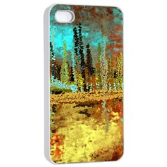 Autumn Landscape Impressionistic Design Apple Iphone 4/4s Seamless Case (white) by theunrulyartist