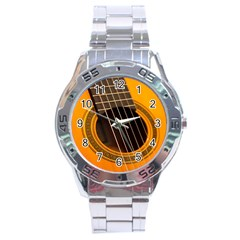 Vintage Guitar Acustic Stainless Steel Analogue Watch by AnjaniArt