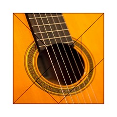 Vintage Guitar Acustic Acrylic Tangram Puzzle (6  X 6 ) by AnjaniArt