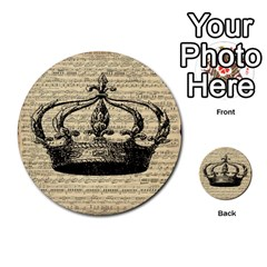 Vintage Music Sheet Crown Song Multi Purpose Cards (round)  by AnjaniArt