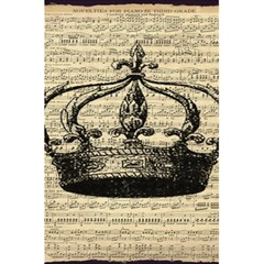 Vintage Music Sheet Crown Song 5 5  X 8 5  Notebooks by AnjaniArt