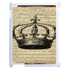 Vintage Music Sheet Crown Song Apple Ipad 2 Case (white) by AnjaniArt