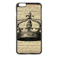 Vintage Music Sheet Crown Song Apple Iphone 6 Plus/6s Plus Black Enamel Case by AnjaniArt