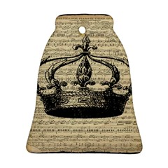 Vintage Music Sheet Crown Song Ornament (bell)  by AnjaniArt