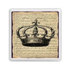 Vintage Music Sheet Crown Song Memory Card Reader (square)  by AnjaniArt