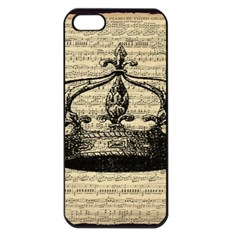 Vintage Music Sheet Crown Song Apple Iphone 5 Seamless Case (black) by AnjaniArt
