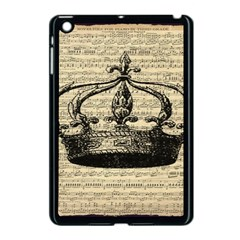 Vintage Music Sheet Crown Song Apple Ipad Mini Case (black) by AnjaniArt