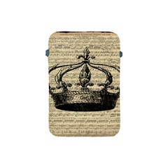 Vintage Music Sheet Crown Song Apple Ipad Mini Protective Soft Cases by AnjaniArt
