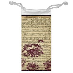 Vintage Music Sheet Song Musical Jewelry Bags by AnjaniArt