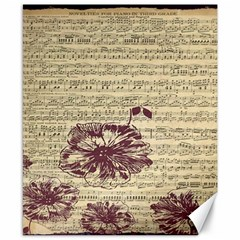Vintage Music Sheet Song Musical Canvas 8  x 10  by AnjaniArt