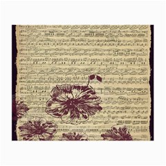 Vintage Music Sheet Song Musical Small Glasses Cloth (2 Side) by AnjaniArt
