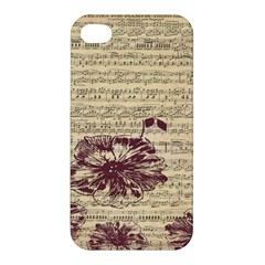 Vintage Music Sheet Song Musical Apple Iphone 4/4s Hardshell Case by AnjaniArt