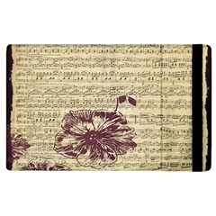 Vintage Music Sheet Song Musical Apple Ipad 2 Flip Case by AnjaniArt