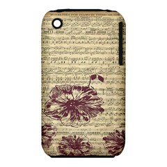 Vintage Music Sheet Song Musical Apple iPhone 3G/3GS Hardshell Case (PC+Silicone) by AnjaniArt