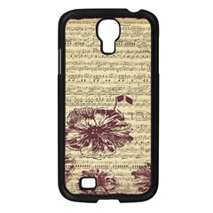 Vintage Music Sheet Song Musical Samsung Galaxy S4 I9500/ I9505 Case (black) by AnjaniArt