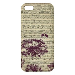 Vintage Music Sheet Song Musical Iphone 5s/ Se Premium Hardshell Case by AnjaniArt