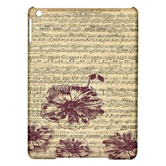Vintage Music Sheet Song Musical Ipad Air Hardshell Cases by AnjaniArt