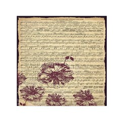 Vintage Music Sheet Song Musical Small Satin Scarf (square) by AnjaniArt