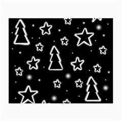 Black And White Xmas Small Glasses Cloth by Valentinaart