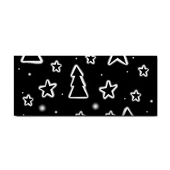Black And White Xmas Hand Towel by Valentinaart