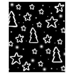 Black And White Xmas Drawstring Bag (small)