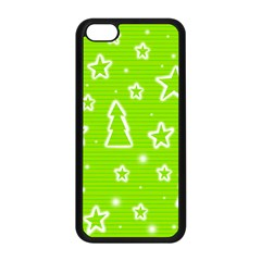 Green Christmas Apple Iphone 5c Seamless Case (black) by Valentinaart