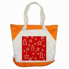 Red Xmas Accent Tote Bag by Valentinaart