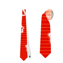 Red Xmas Neckties (two Side)  by Valentinaart