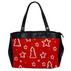 Red Xmas Office Handbags by Valentinaart