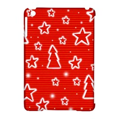 Red Xmas Apple Ipad Mini Hardshell Case (compatible With Smart Cover) by Valentinaart