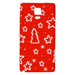 Red Xmas Galaxy Note 4 Back Case by Valentinaart