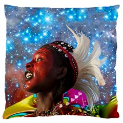 African Star Dreamer Large Cushion Case (one Side) by icarusismartdesigns