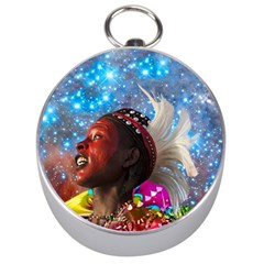 African Star Dreamer Silver Compasses by icarusismartdesigns