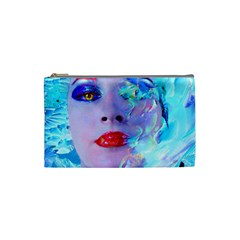 Swimming Into The Blue Cosmetic Bag (small)  by icarusismartdesigns