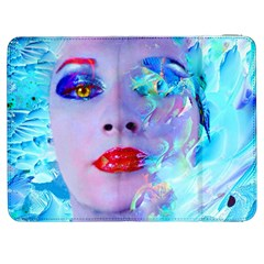 Swimming Into The Blue Samsung Galaxy Tab 7  P1000 Flip Case by icarusismartdesigns